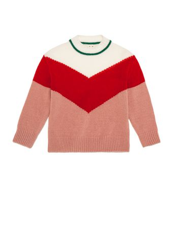 Marni  KNIT IN PINK AND RED VIRGIN WOOL Woman