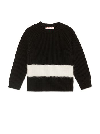 Marni KNIT IN BLACK VIRGIN WOOL Woman