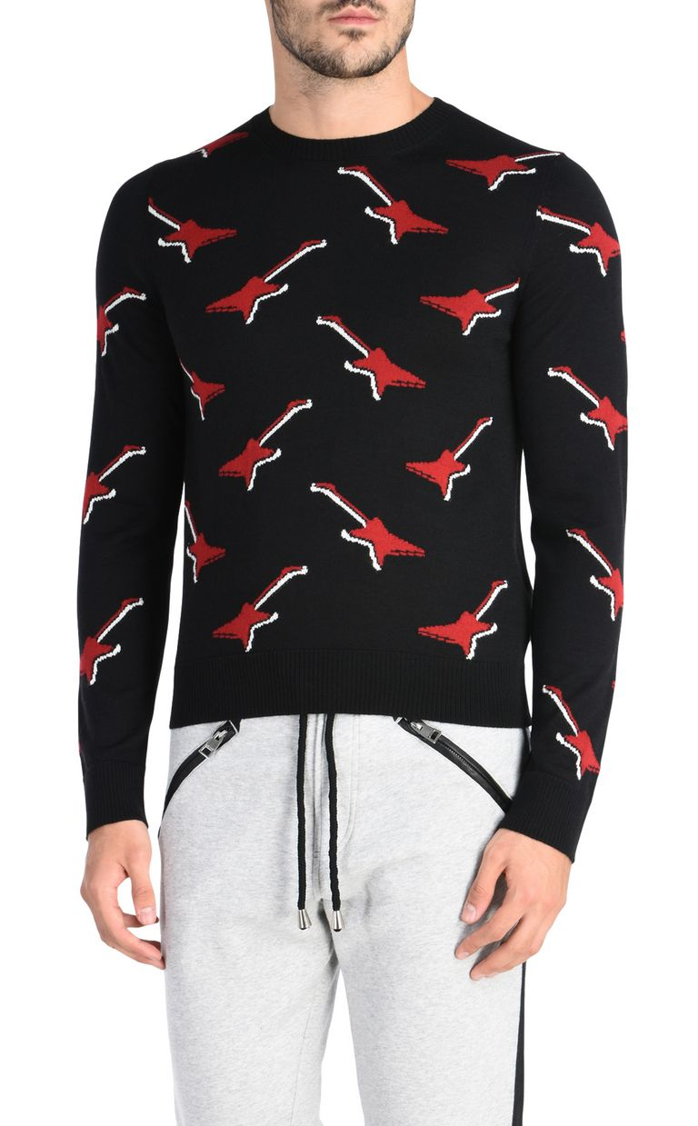 JUST CAVALLI Patterned design pullover Crewneck sweater U f