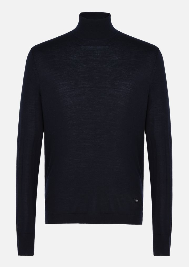 front prined longsleeved sweater - Black Giorgio Armani Discount 2018 New Discount Eastbay Sale Best Buy Cheap Fashion Style Many Kinds Of Cheap Price Daw4a