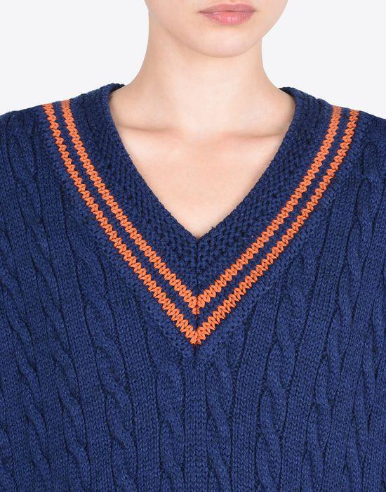 MAISON MARGIELA Oversized sleeveless cricket sweater Sleeveless sweater Woman a