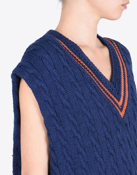 MAISON MARGIELA Oversized sleeveless cricket sweater Sleeveless sweater Woman b