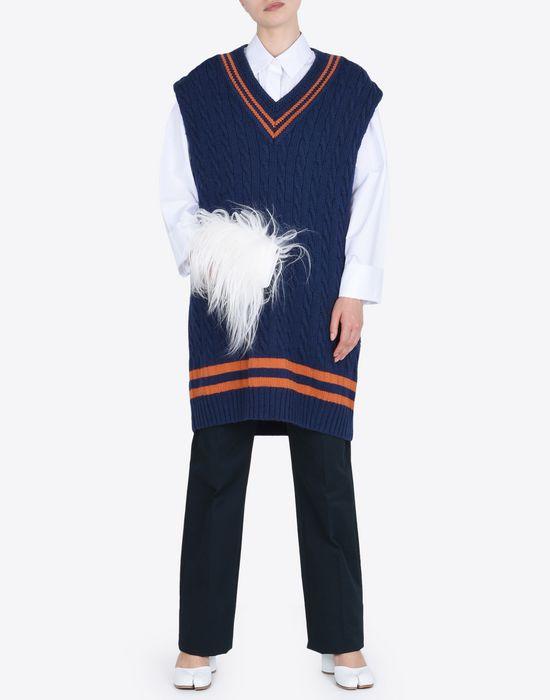 MAISON MARGIELA Oversized sleeveless cricket sweater Sleeveless sweater Woman d