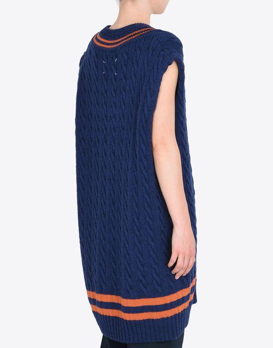 MAISON MARGIELA Oversized sleeveless cricket sweater Sleeveless sweater Woman e