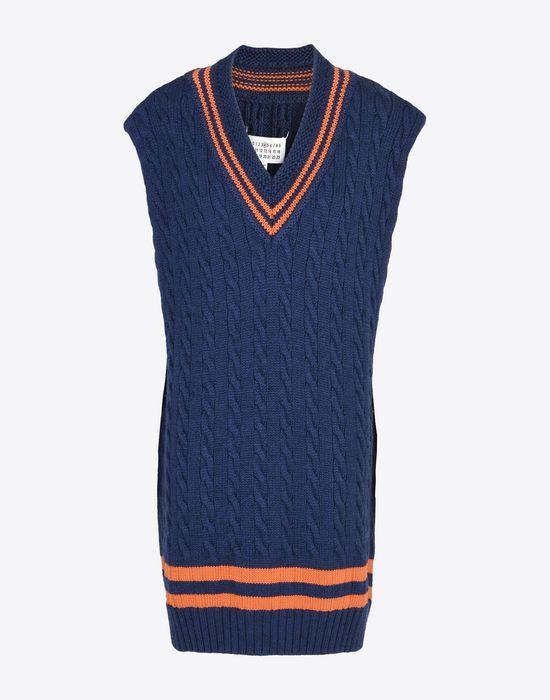 MAISON MARGIELA Oversized sleeveless cricket sweater Sleeveless sweater Woman f