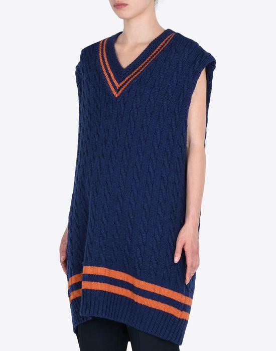 MAISON MARGIELA Oversized sleeveless cricket sweater Sleeveless sweater Woman r