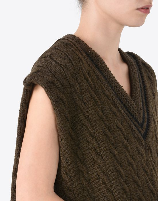 MAISON MARGIELA Oversized sleeveless cricket sweater Sleeveless sweater Woman b