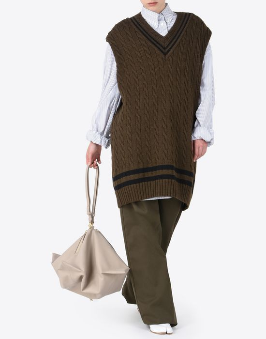 MAISON MARGIELA Oversized sleeveless cricket sweater Sleeveless sweater [*** pickupInStoreShipping_info ***] d