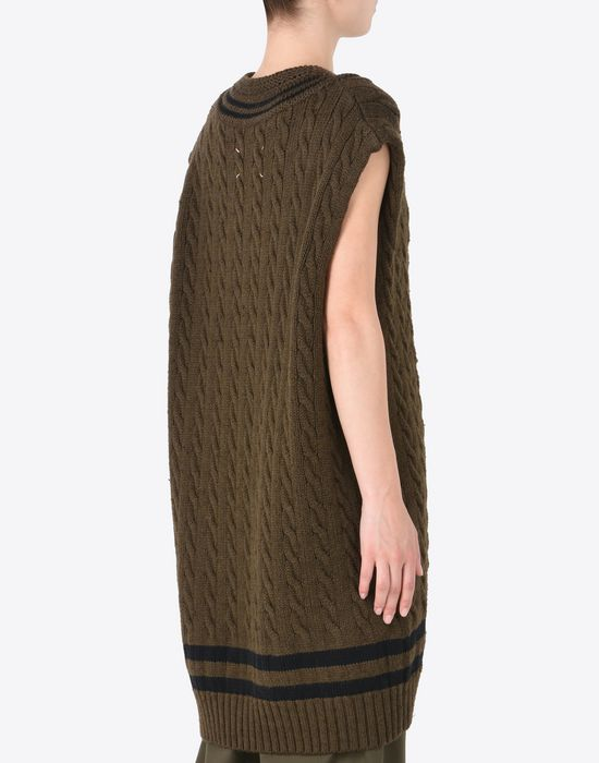 MAISON MARGIELA Oversized sleeveless cricket sweater Sleeveless sweater Woman e