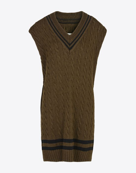MAISON MARGIELA Oversized sleeveless cricket sweater Sleeveless sweater Woman f