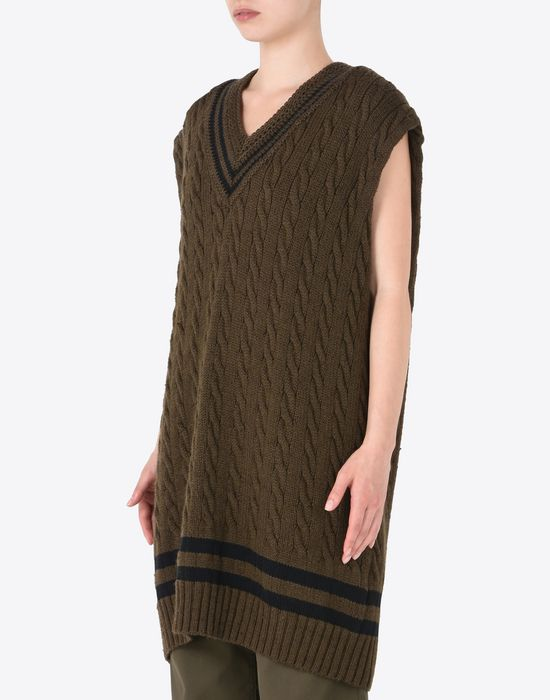 MAISON MARGIELA Oversized sleeveless cricket sweater Sleeveless sweater Woman r