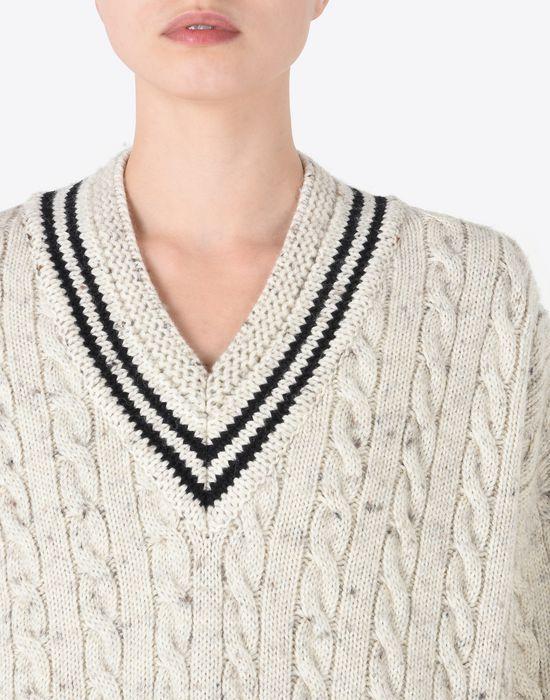 MAISON MARGIELA Oversized cricket sweater Long sleeve sweater D b
