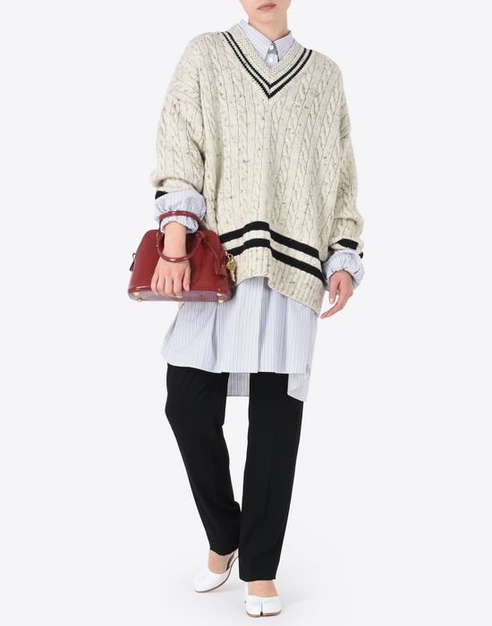 MAISON MARGIELA Oversized cricket sweater Long sleeve sweater D d