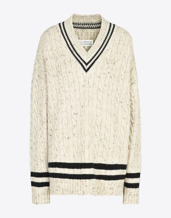 MAISON MARGIELA Oversized cricket sweater Long sleeve sweater D f
