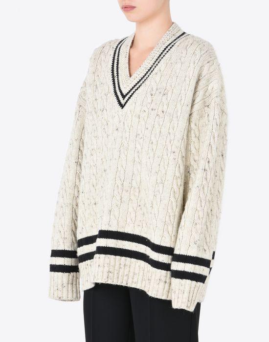MAISON MARGIELA Oversized cricket sweater Long sleeve sweater D r