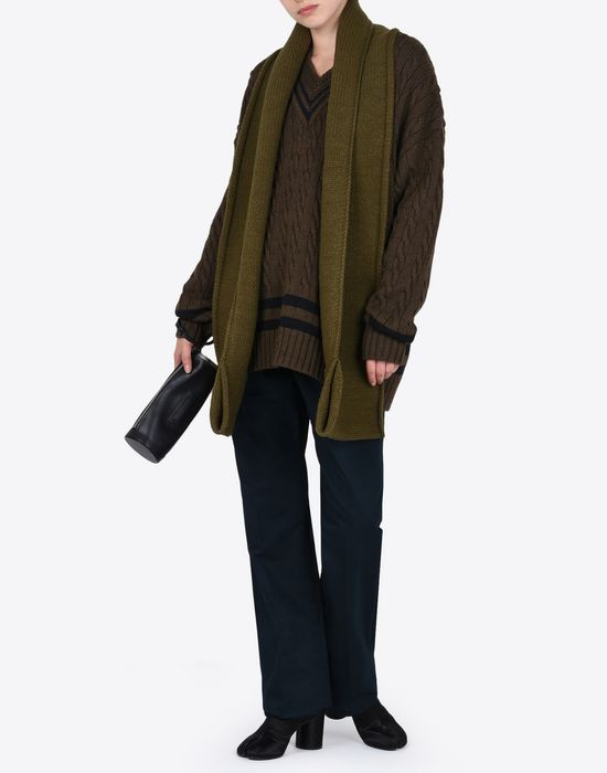 MAISON MARGIELA Oversized cricket sweater Long sleeve sweater Woman d