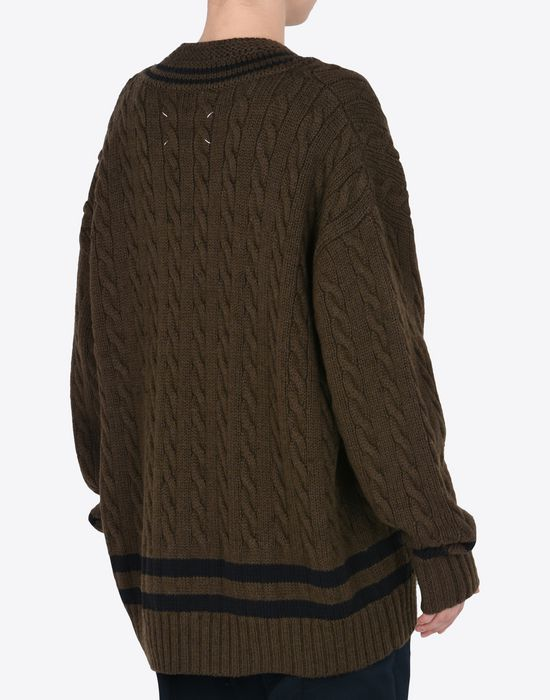 MAISON MARGIELA Oversized cricket sweater Long sleeve sweater Woman e