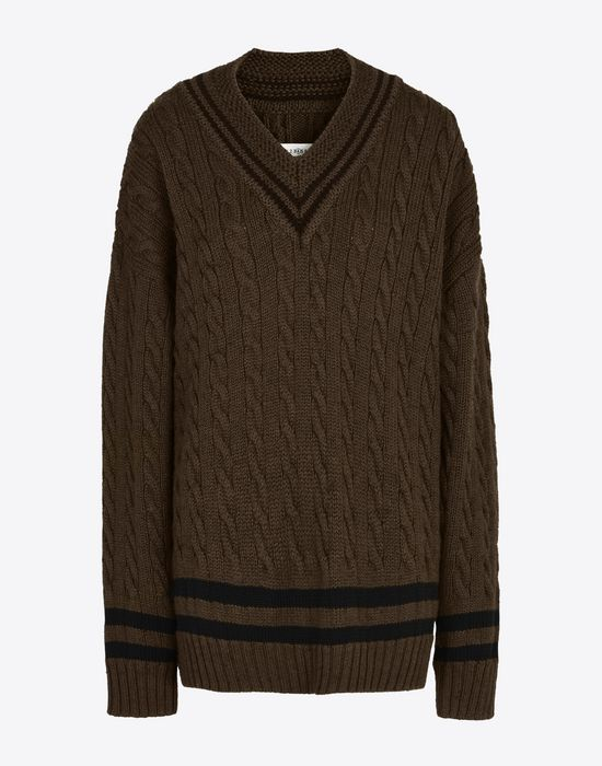 MAISON MARGIELA Oversized cricket sweater Long sleeve sweater Woman f