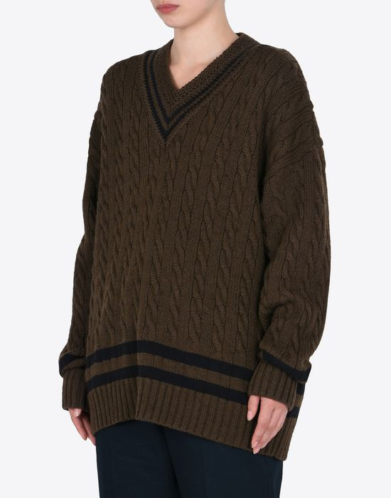 MAISON MARGIELA Oversized cricket sweater Long sleeve sweater Woman r