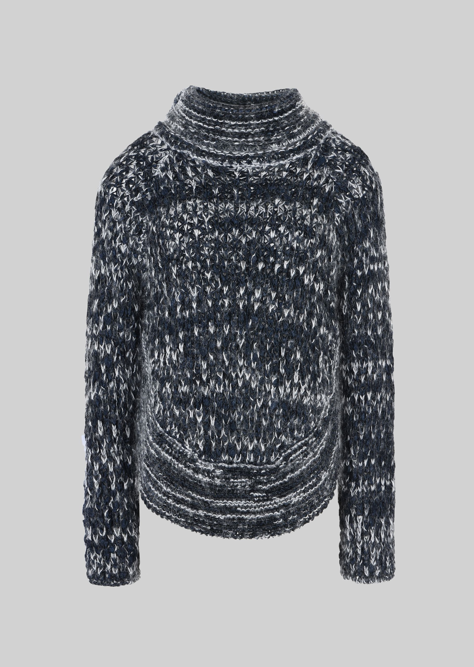 GIORGIO ARMANI PONCHO SWEATER IN WOOL AND MOHAIR Sweater D r