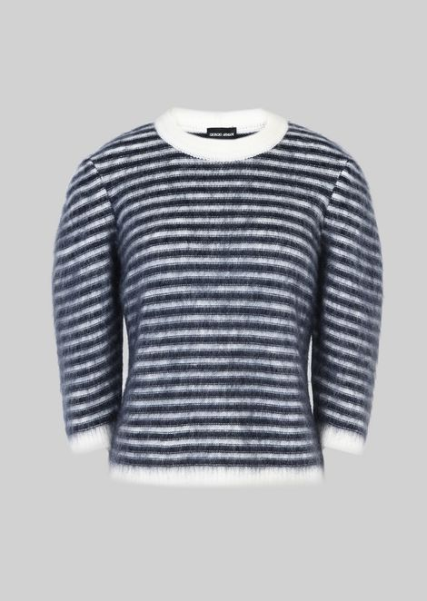 SWEATER IN WOOL AND MOHAIR