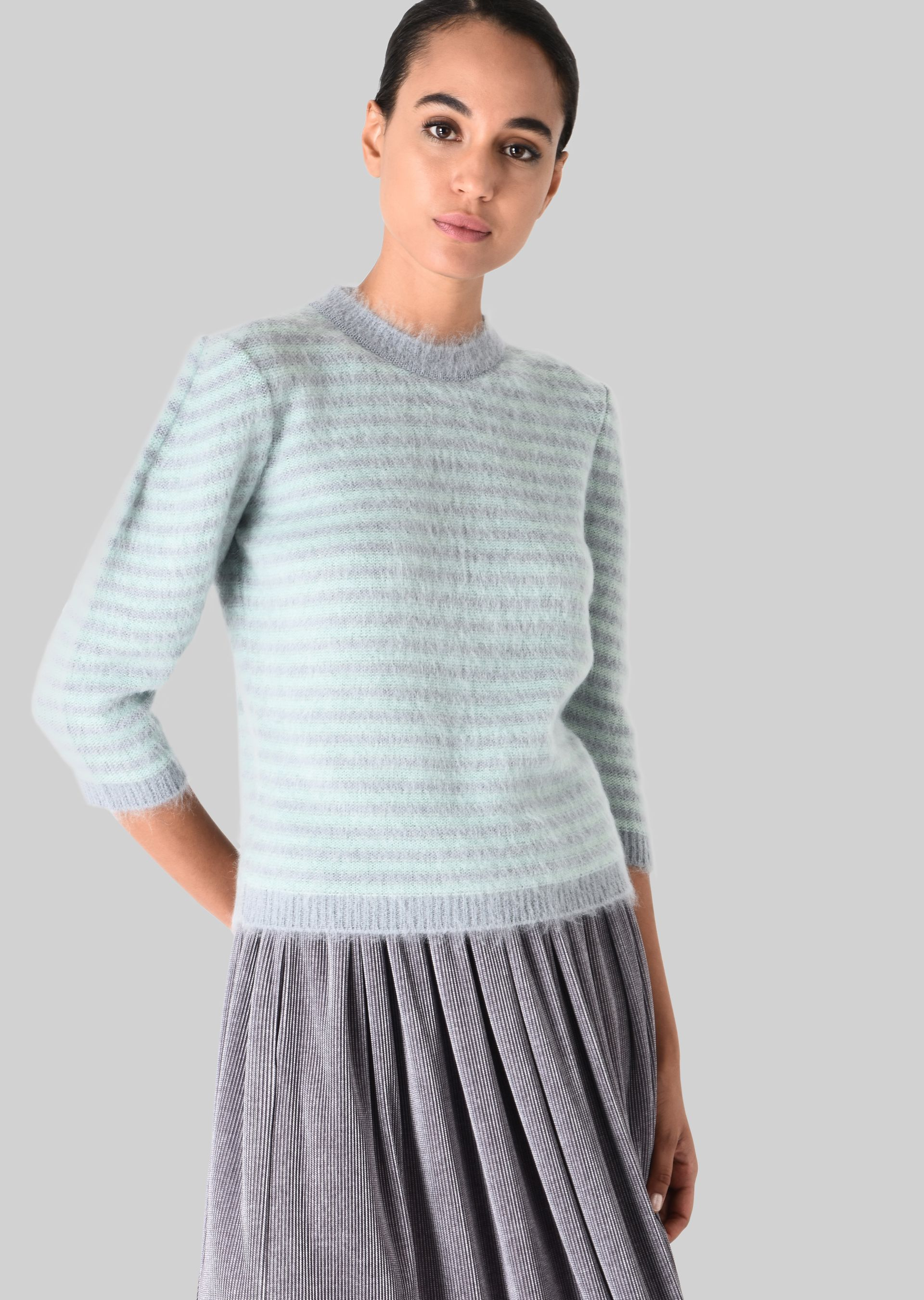GIORGIO ARMANI SWEATER IN WOOL AND MOHAIR Sweater D d