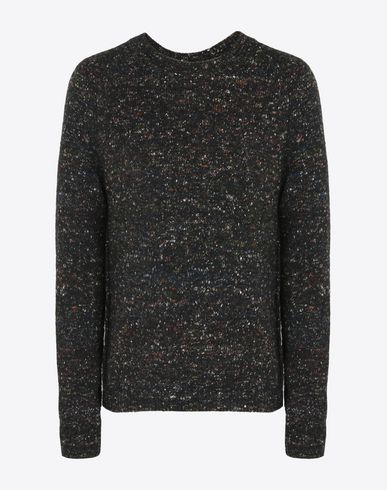 MAISON MARGIELA Crewneck sweater U Marbled wool blend sweater f