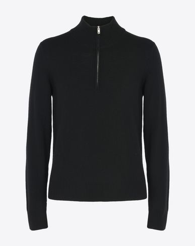 MAISON MARGIELA High neck sweater U Wool sweater with half zip f