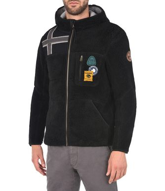 NAPAPIJRI YUPIK HOOD MAN FLEECE,BLACK