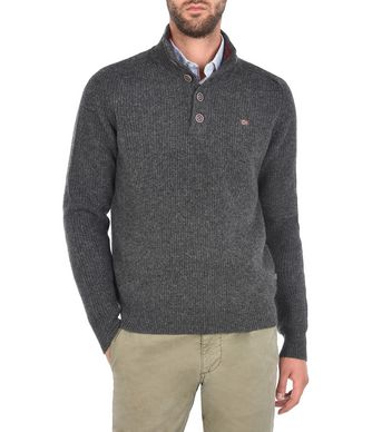 NAPAPIJRI DIGHIL MAN ZIP SWEATER,STEEL GREY