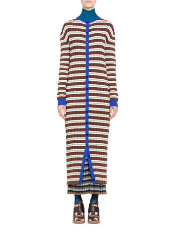 Marni Cardigan in striped cotton Woman