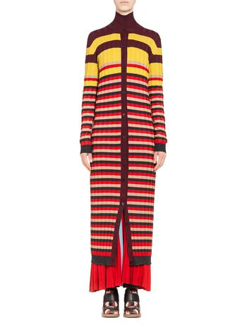 Marni Cardigan in striped wool Woman