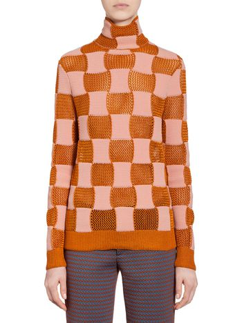 Marni Checkered knit in nylon Woman