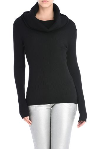 JUST CAVALLI High neck sweater D Fold over off shoulder pullover f