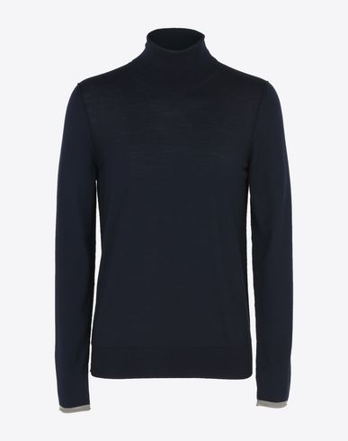 MAISON MARGIELA Long sleeve sweater U Wool turtleneck with contrasting jersey detail f