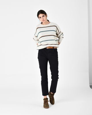 ISABEL MARANT ÉTOILE LONG SLEEVE SWEATER D GATLIN striped jumper r