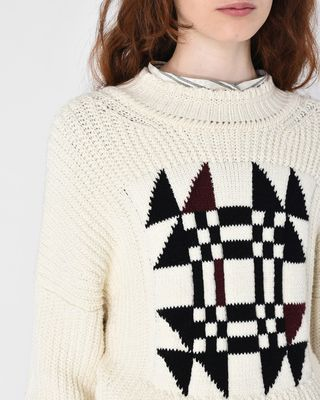 ISABEL MARANT LONG SLEEVE SWEATER Woman LAWRIE origami jumper r