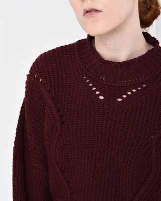 ISABEL MARANT LONG SLEEVE JUMPER Woman LANE short knit jumper r