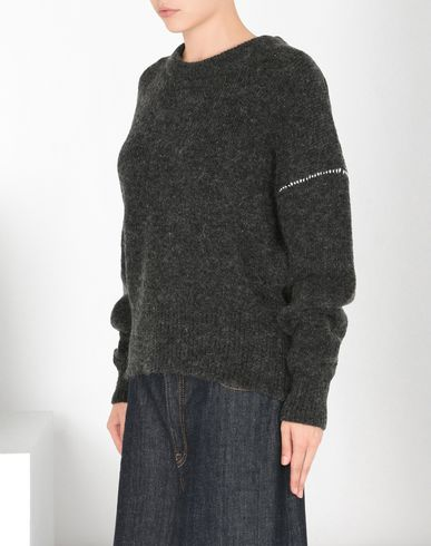 MM6 by MAISON MARGIELA Long sleeve jumper D Crewneck sweater with contrasting stitching f