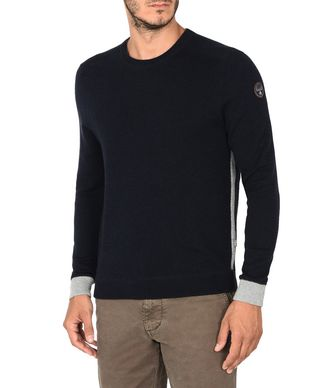 NAPAPIJRI DRONTEN MAN CREWNECK SWEATER,DARK BLUE