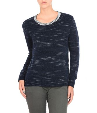 NAPAPIJRI DOTLAN WOMAN CREWNECK SWEATER,DARK BLUE