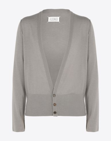 MAISON MARGIELA Cardigan U Wool cardigan with contrasting jersey detail f