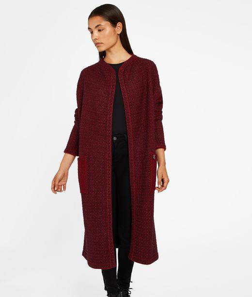 KARL LAGERFELD Long Wool Bouclé Cardigan 12_f