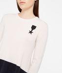 KARL LAGERFELD Cashmere Peplum Detail Sweater 8_e