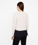 Cashmere Peplum Detail Sweater