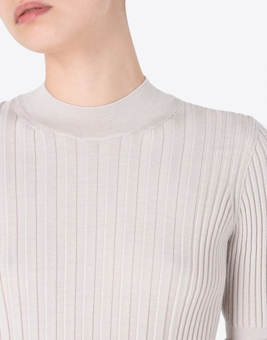 MAISON MARGIELA Short sleeve rib knit sweater Short sleeve sweater D a