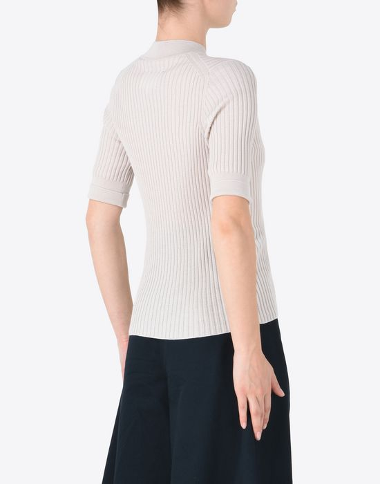 MAISON MARGIELA Short sleeve rib knit sweater Short sleeve sweater D e