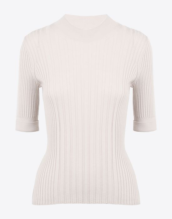 MAISON MARGIELA Short sleeve rib knit sweater Short sleeve sweater D f