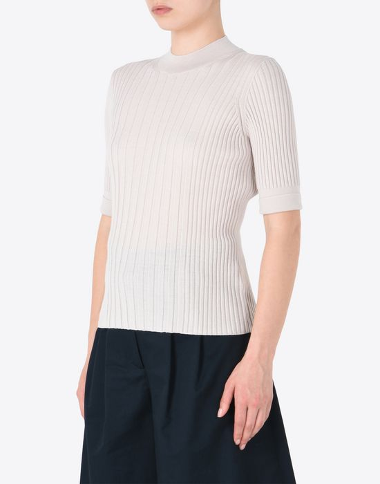 MAISON MARGIELA Short sleeve rib knit sweater Short sleeve sweater D r