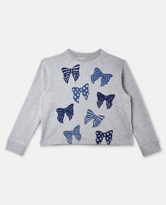 June Bows Print Sweater